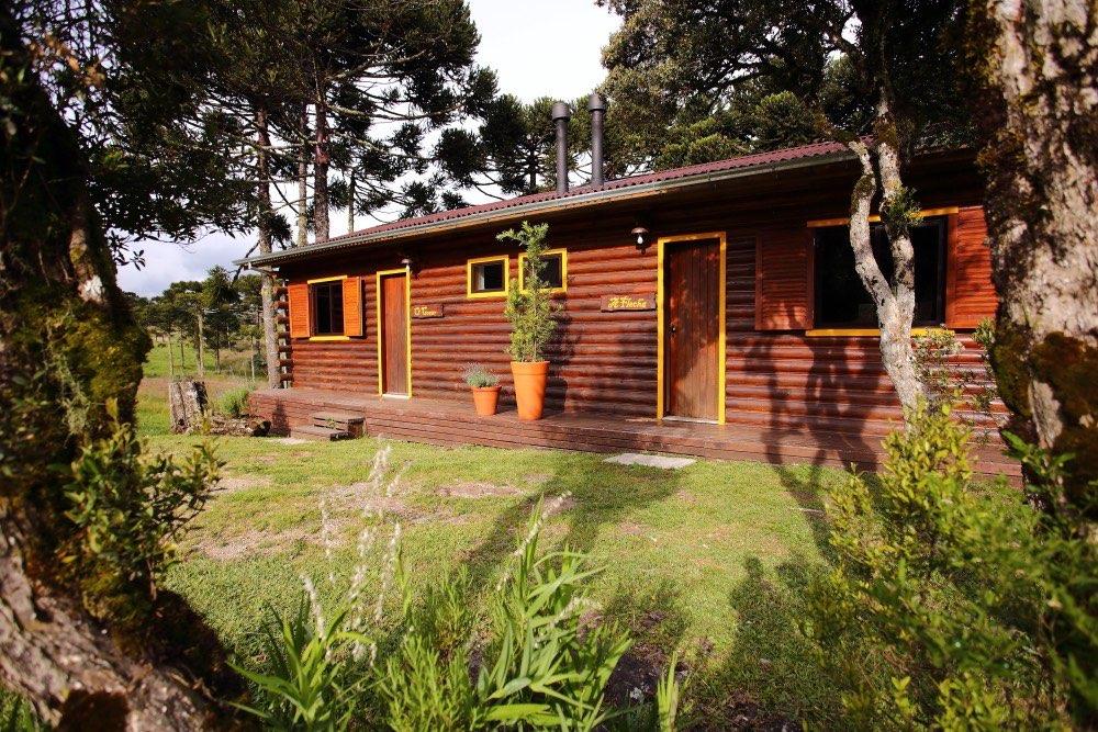 Vista externa da cabana A Flecha